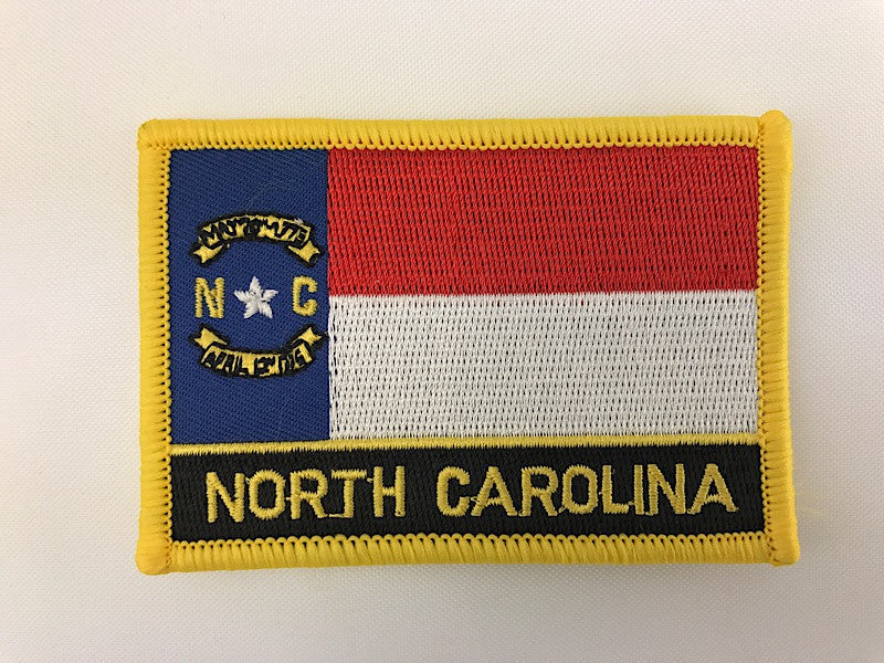 "2 1/4"" X 3 1/4"" North Carolina State Flag Embroidered Patch"