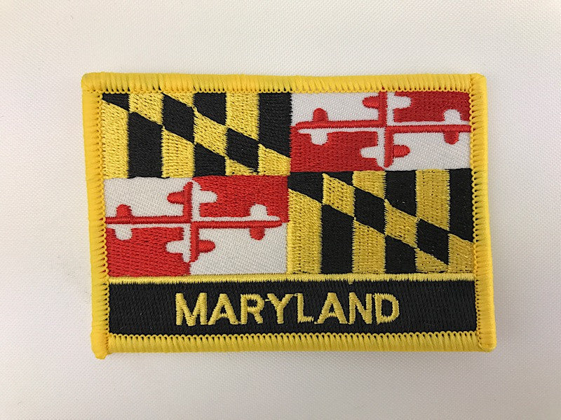 "2 1/4"" X 3 1/4"" Maryland State Flag Embroidered Patch"