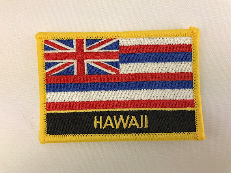 "2 1/4"" X 3 1/4"" Hawaii State Flag Embroidered Patch"