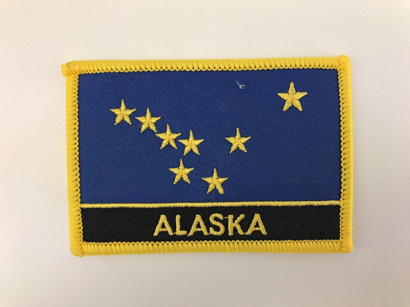 "2 1/4"" X 3 1/4"" Alaska State Flag Embroidered Patch"