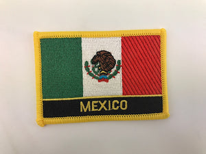 "2 1/4"" X 3"" Mexico Flag Embroidered Patch"