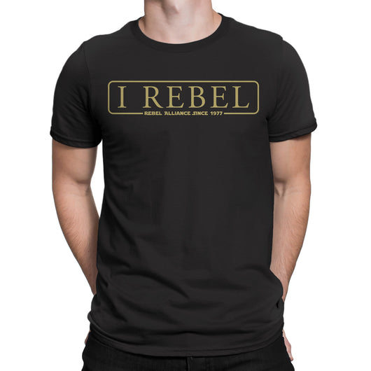 I Rebel-T Shirt Mens -Star Wars Inspired black rebels rogue one jedi - Secret Level Clothing