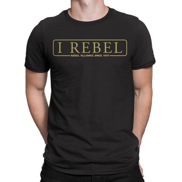 I Rebel-T Shirt Mens -Star Wars Inspired black rebels rogue one jedi
