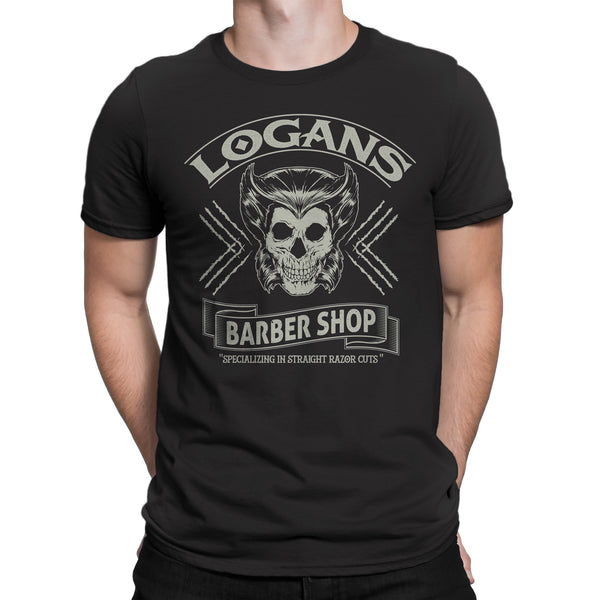 X-mens Wolverine / Logan Inspired-Logan's Barber Shop T-Shirt vintage black - Secret Level Clothing