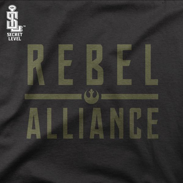 Rebel Alliance-Hoodie Mens- black military green rebels rebellion