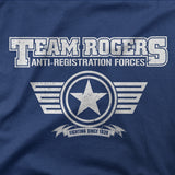 Team Captain America T Shirt Inspired- TEAM ROGERS (End Game) Tee Shirts Navy Blue - Secret Level Clothing