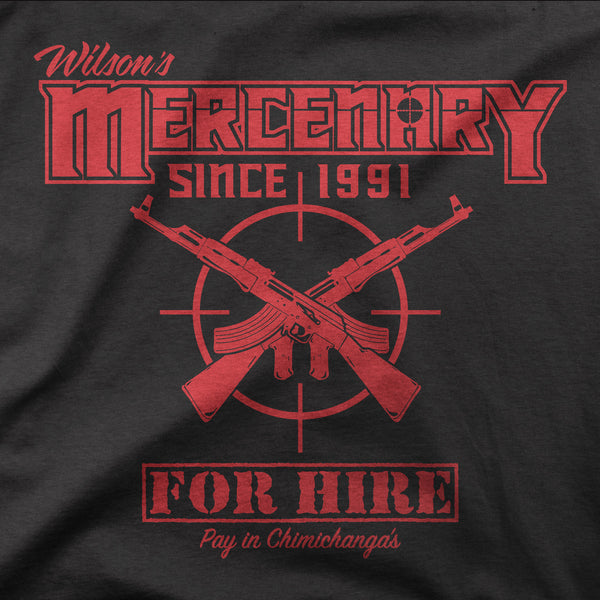 Wilsons Mercenary For Hire-Hoodie Mens- Black Deadpool