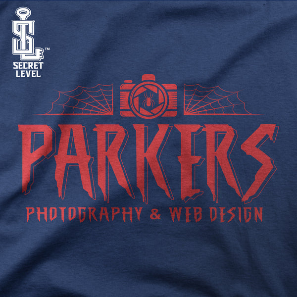 Parkers Photography-Hoodie Mens- Navy Blue Spidey