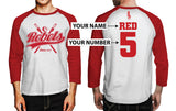 Custom Mens Rebels Baseball Tee - Secret Level Clothing