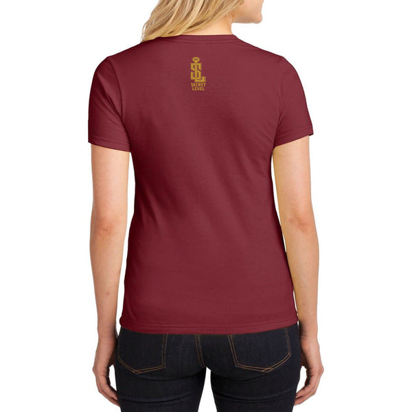 "Wonder Woman Justice League Inspired -""Amazonian Fit Club"" T-Shirt maroon - Secret Level Clothing"