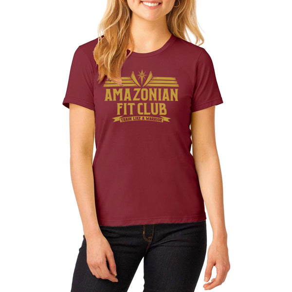 "PRE-ORDER Wonder Woman Justice League Inspired -""Amazonian Fitness"" T-Shirt maroon - Secret Level Clothing"