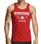 "Iron Man tank top -inspired ""TEAM STARK"" tank top (End Game) red - Secret Level Clothing"