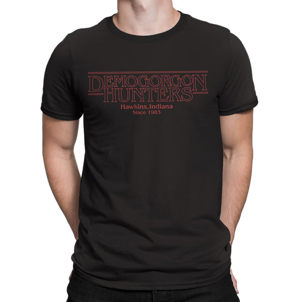 Stranger Things T Shirt Inspired-Demogorgan Hunters tee shirt black Netflix - Secret Level Clothing