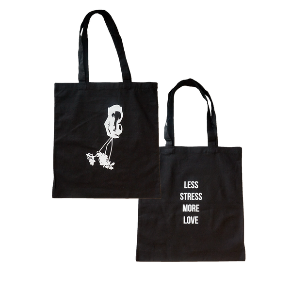Less Stress Black Tote
