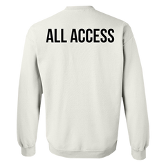 All Access White Crewneck (Low Stock!)