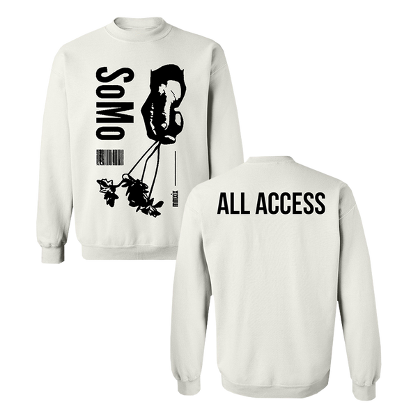 All Access White Crewneck