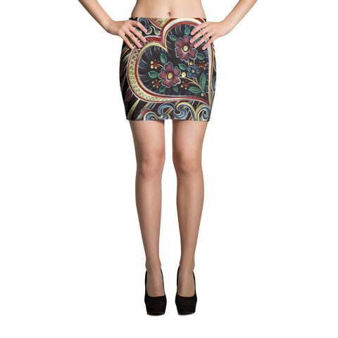 Love Love Love Sublimation Cut & Sew Mini Skirts