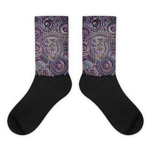 Wisdom - Black foot socks