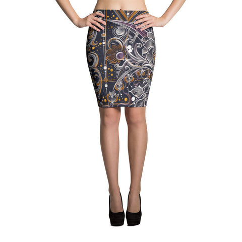 Night Song - Sublimation Cut & Sew Pencil Skirts