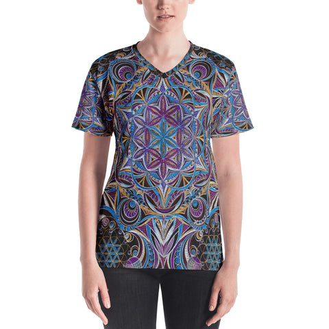 Sacred Geometry Women's V-neck T-shirt (Limited)