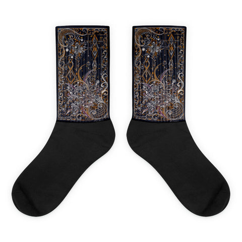 Night Song Black foot socks