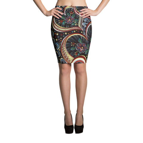 Love Love Love Sublimation Cut & Sew Pencil Skirts