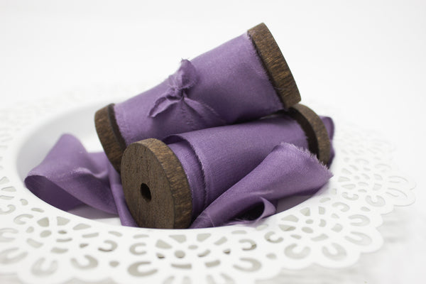Purple Hand Dyed ribbon for wedding bouquets | A Ribbon's Nest