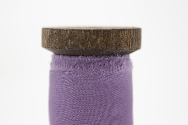 purple bouquet ribbon with frayed edge | A Ribbon's Nest