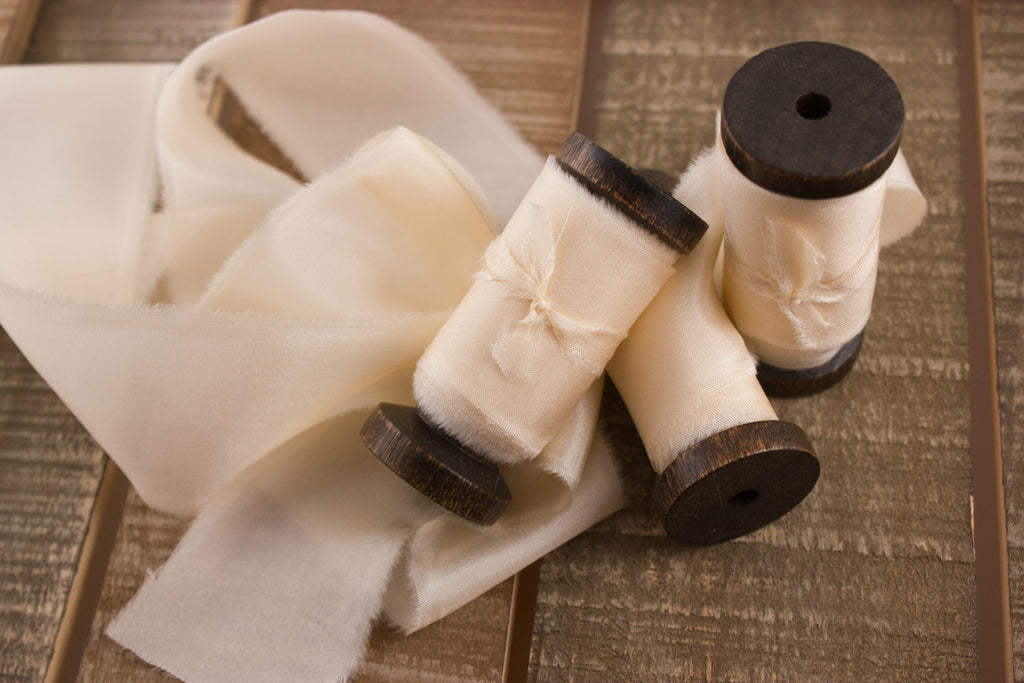 Cream-White-Bridal-Silk-Ribbon-For-Weddings | A Ribbon's Nest