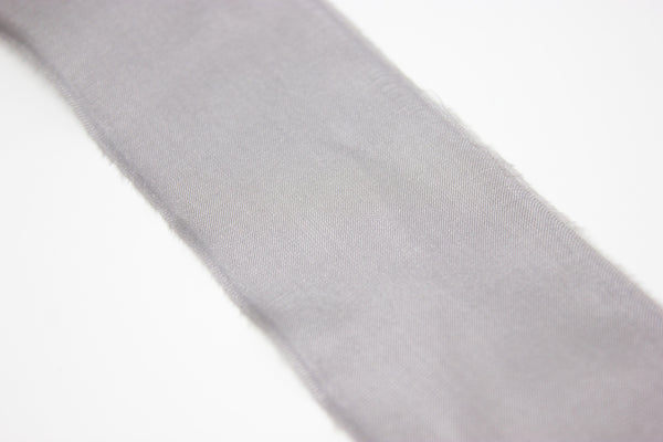 grey silk ribbon