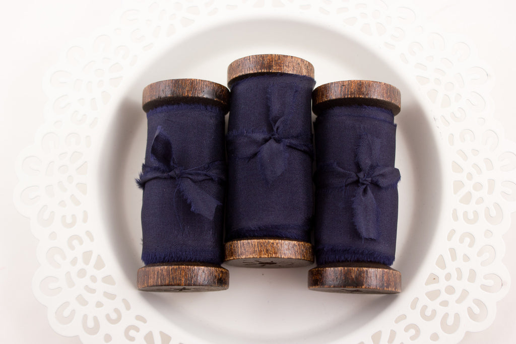 Navy Blue Bouquet Ribbon | A Ribbon's Nest