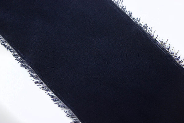 Midnight Bayou 100% Silk Crepe de Chine Hand Dyed Ribbon