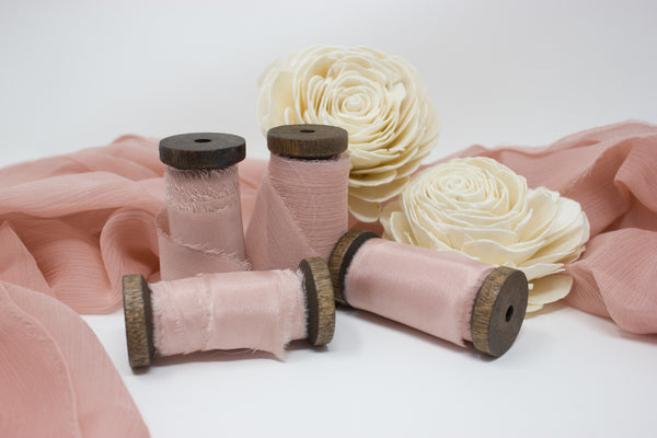 photography styling kit - ribbons - textiles - hand dyed silk- a ribbon's nest