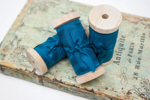 Oasis Hand Dyed Silk Ribbon