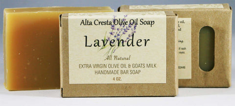 Handcrafted Olive Oil & Goats Milk Soap - Lavender