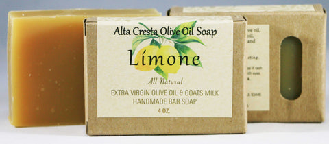Handcrafted Olive Oil & Goats Milk Soap - Lemon