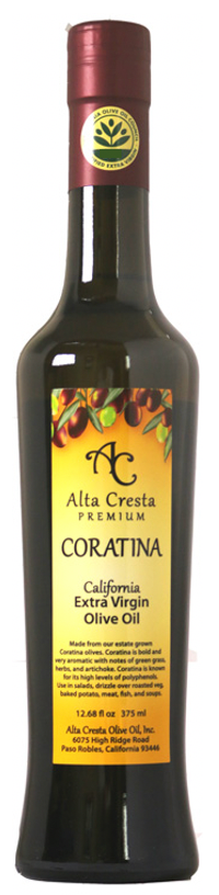 2020 Coratina Extra Virgin Olive Oil (Polyphenols 626 mg/kg*)