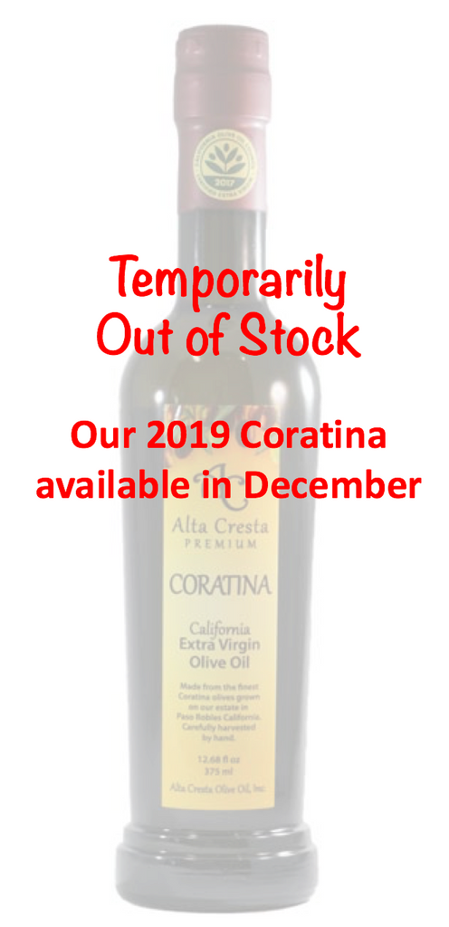 2018 Coratina Extra Virgin Olive Oil