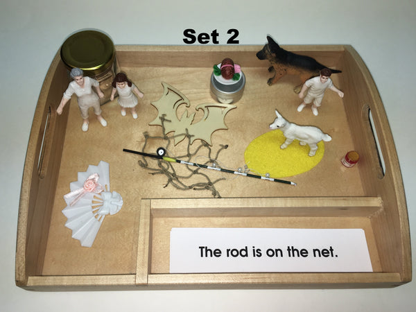 Pink Interpretive Sentences with Objects and Tray