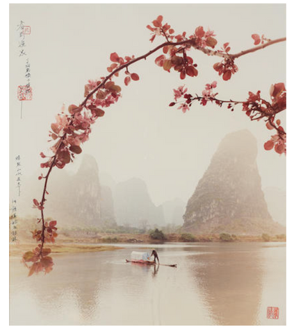Don Hong-Oai DON HONG-OAI (1929-2004) Fisherman with Bamboo; Fisherman with Cherry Blossoms US$ 2,000 - 3,000