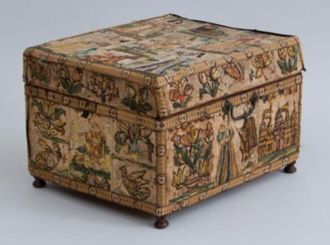 Charles II Needlework Dressing Box