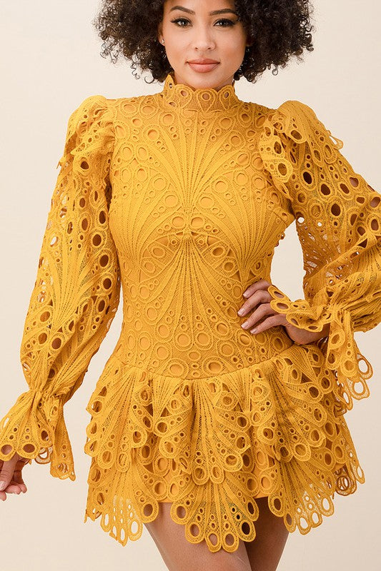 Yellow Sunshine Ruffle Dress