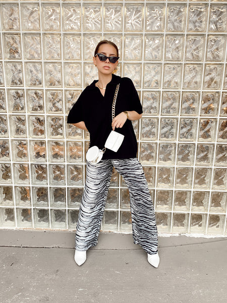 Zebra Print Easy Pants