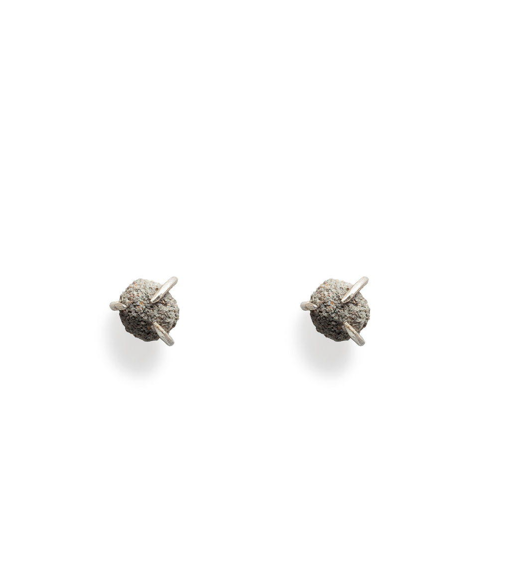 Asynchronous/ Cement Earring (a pair)