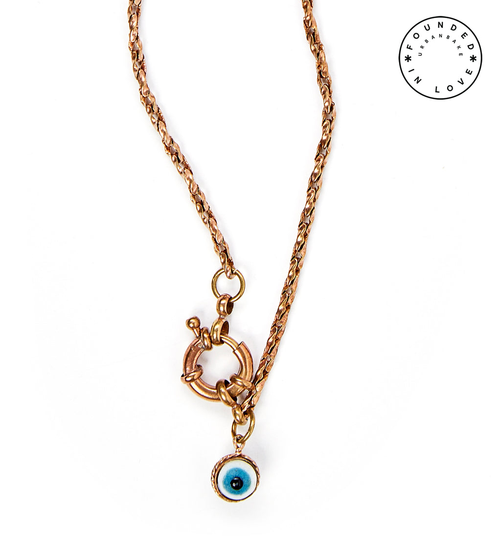 Founded in Love/ Evil Eye Necklace