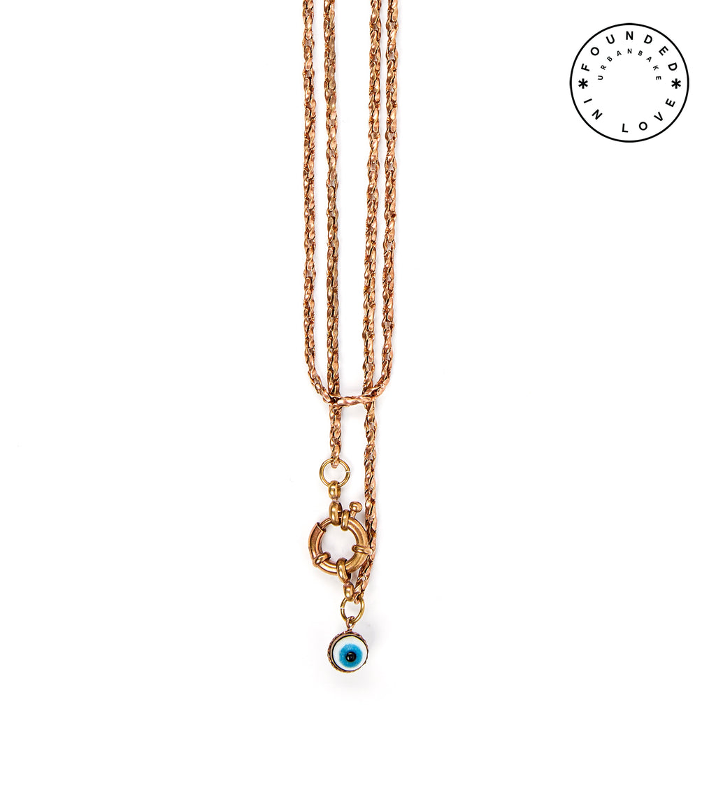 Founded in Love/ Evil Eye Double Necklace