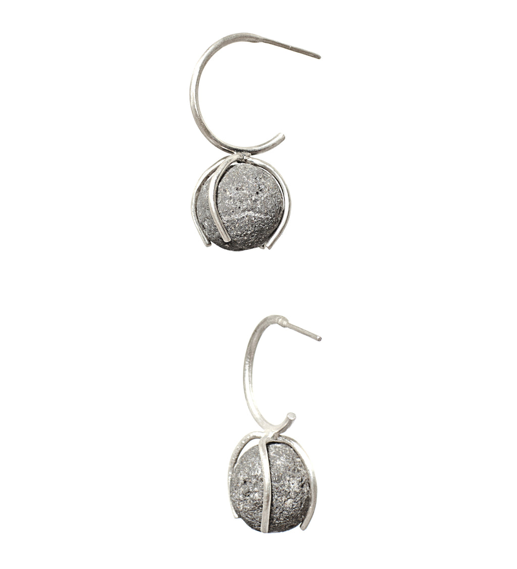 Invisible_Translucent Cement Earrings