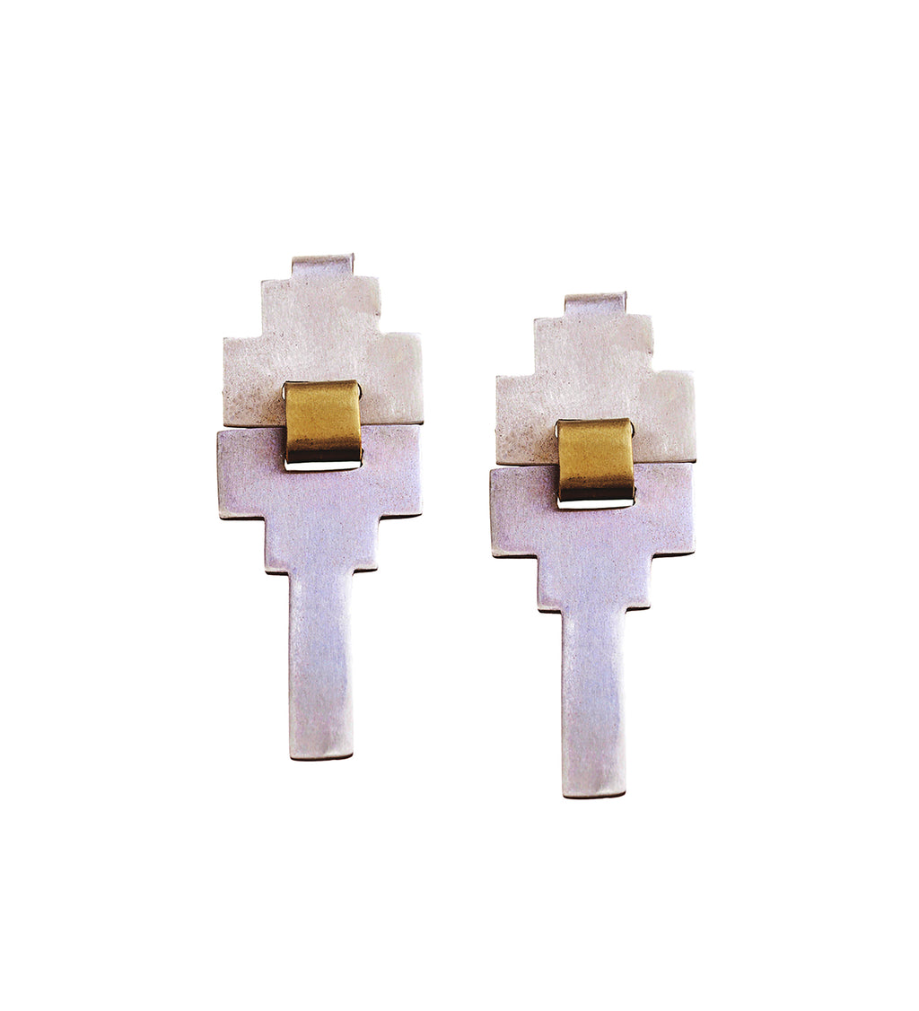Grace/ Scarpa Mirror Earrings