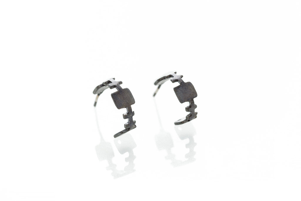Involvement_ Oxidized Silver Earrings