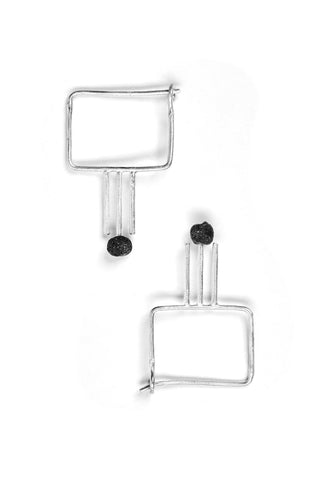 Triadic Ballet Square Earrings M